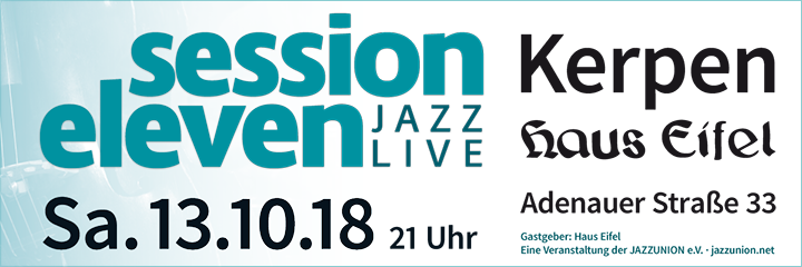 session eleven am Samstag, 13.10.2018