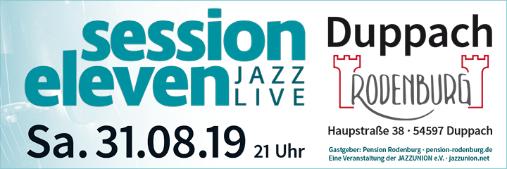 session eleven am Samstag, 31.08.2019